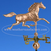horse weather vane side view on blue sky background image