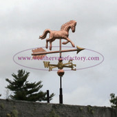 Running Horse Weathervane, a Made in Maine Weathervane, by The Weathervane Factory