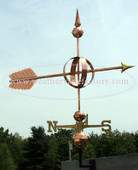 Grand Arrow Sphere Weathervane right side view on blue sky background