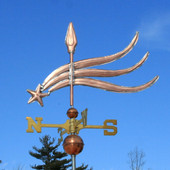Shooting Star Weathervane left side view on blue sky background