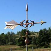 large fancy arrow weathervane side view field setting image