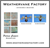 feather /  quill weathervane patina