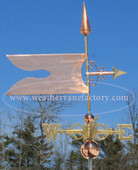 Banner Weathervane right side view on blue sky background