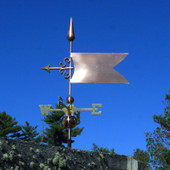 Simple Banner/Flag Weathervane left side view on stormy background