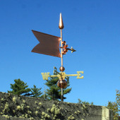 Simple Banner/Flag Weathervane right rear view on stormy background