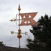 Large Shamrock Banner Weathervane 525
