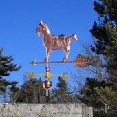 Goat Weathervane standing on a nice arrow side view image
