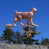 Bobtail Cat Weathervane right side view on blue sky background