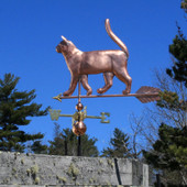 Cat Weathervane left angle view on blue sky background