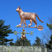 Walking Cat Weathervane left front angle view on blue sky background