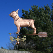Large French Bulldog Weathervane left side view on blue sky background