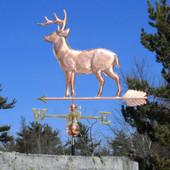 Large Standing Deer Weathervane left side view on blue sky background