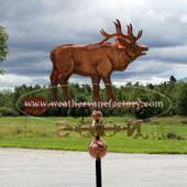 elk weathervane side view image