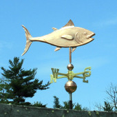 Tuna Fish Weathervane right side view on blue sky background