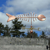 Large Bonefish Weathervane right side view on cloudy background