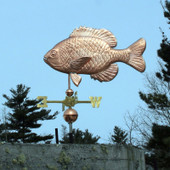 sunfish weathervane left side view on blue sky background