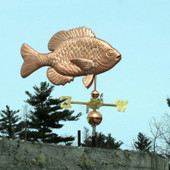 sunfish weathervane right angle view on blue sky background
