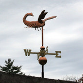 Scorpion Weathervane right side view on stormy background