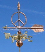 Peace Sign Weathervane Left Side View