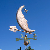 Man in the Moon Weathervane with Star
