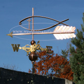 jesus fish weathervane left side view on blue sky background