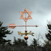 Star of David Weathervane right side view on stormy background