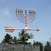 menorah weathervane