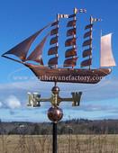 tall ship weathervane