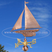 Yacht/Sailboat Weathervane left side view on blue sky background