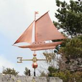 sloop weathervane