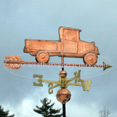 Pickup Truck Weathervane right side view on stormy background