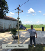 customer photo anchor weathervane