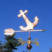 Anchor Weathervane right side view on blue sky background