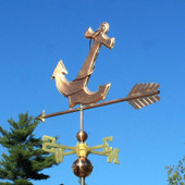 Anchor Weathervane left rear view on blue sky background