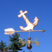 Anchor Weathervane right angle view on blue sky background