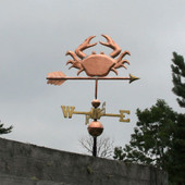 Crab Weathervane right side view on stormy background