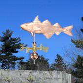 "30"" Haddock Weathervane left angle side view on blue sky background"