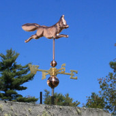 Fox Wind Vane front right angle on blue sky background