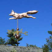 Fox Wind Vane left side view on blue sky background