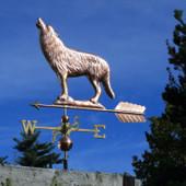 Wolf on a Rock Weathervane