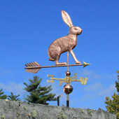 Jackrabbit Weathervane right side view on blue sky background