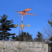 Dragonfly Weathervane left slight angle on blue sky background