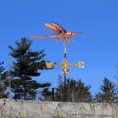 Dragonfly Weathervane right side view on blue sky background