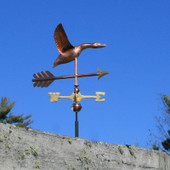 Small Flying Goose Weathervane right side view on blue background
