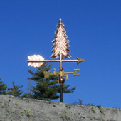 Small Copper Tree Weathervane