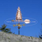 Handmade Copper Tree Weathervane