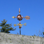 Arrow Sphere Weathervane side view