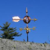 Small  Arrow Weathervane on blue sky background