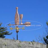 wine bottle weathervane