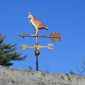 copper quail weathervane side view